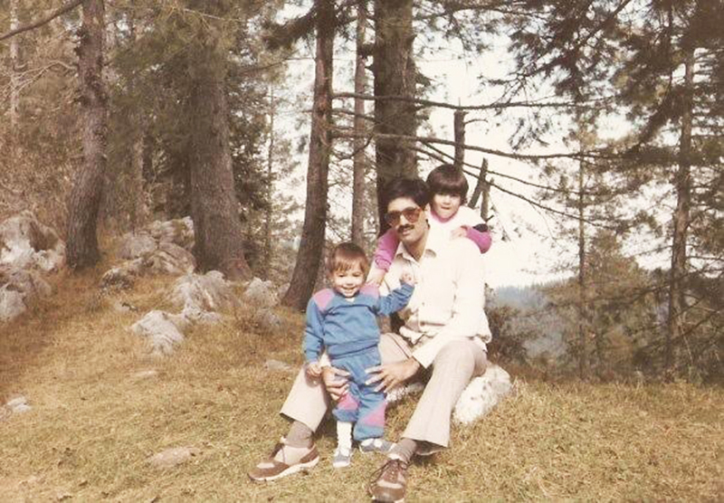 My brother Abdullah and I with our father.