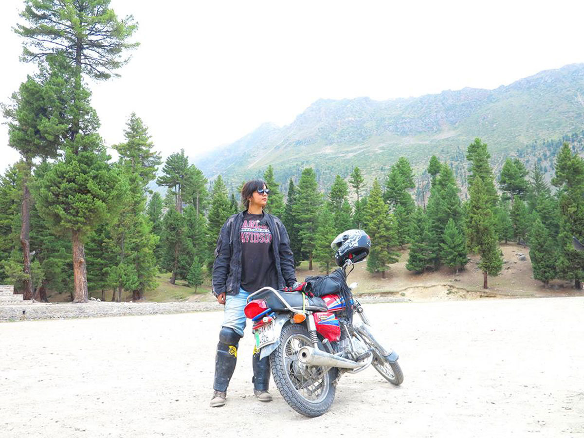 Zenith Irfan posing with her motorcycle — Photo courtesy Zenith's Facebook