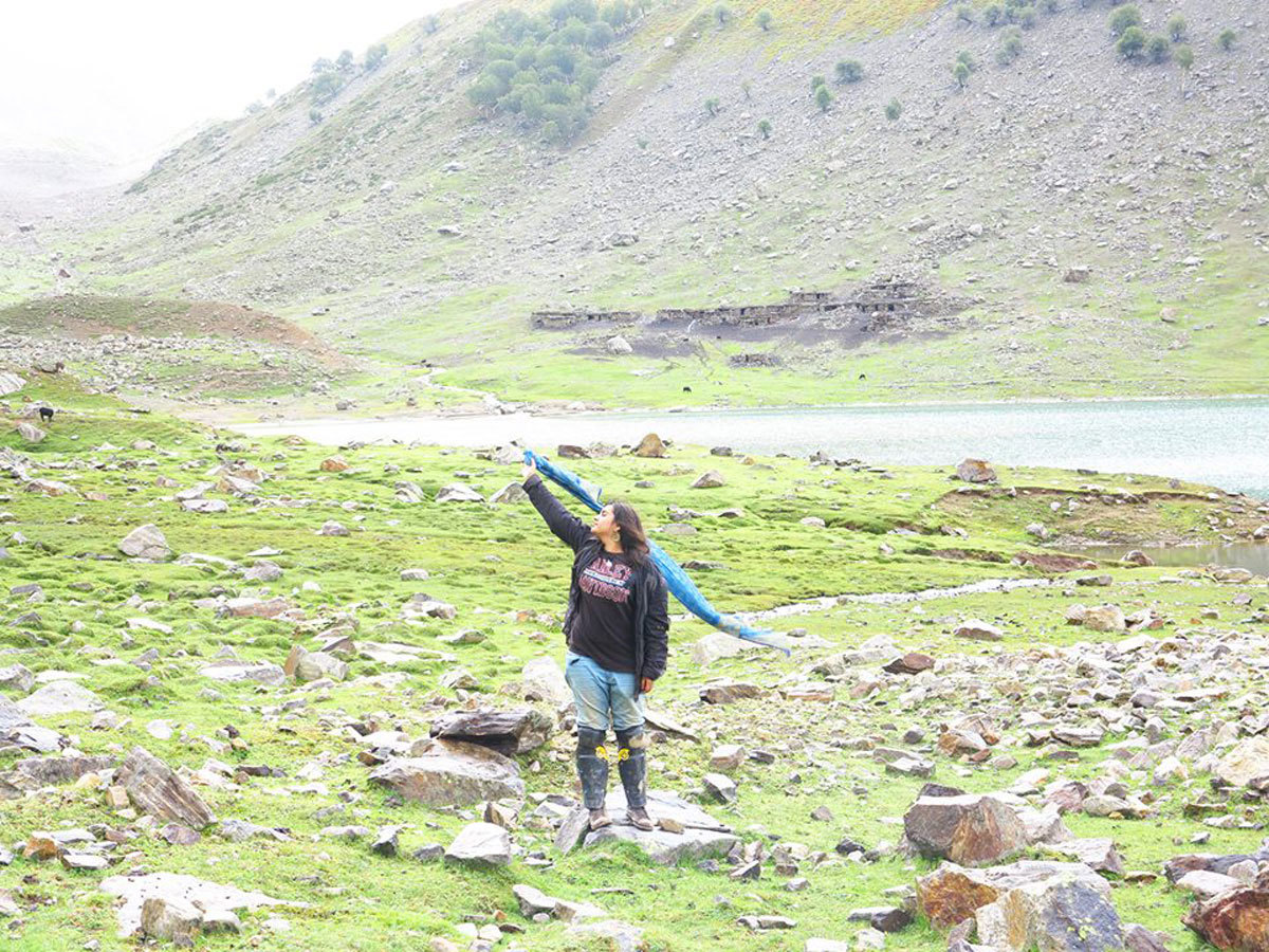 Her Bollywood moment amidst the mountains. Photo: Facebook