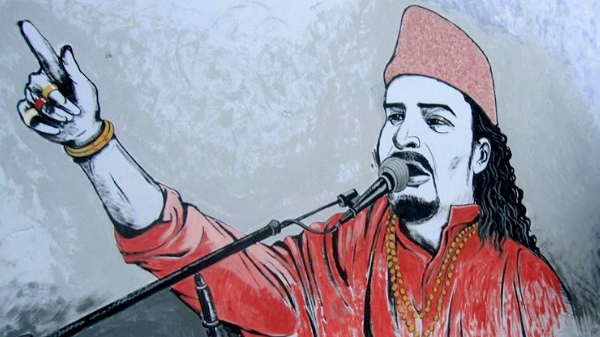 This beautiful mural of Amjad Sabri in Korangi will make you smile