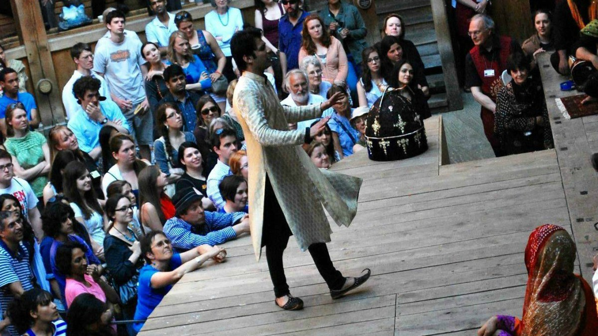 Umer Naru in Taming of the Shrew at the Globe Theatre