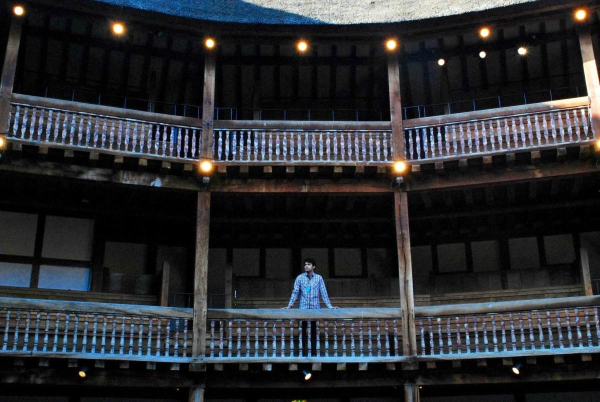 Umer Naru at the Globe Theatre
