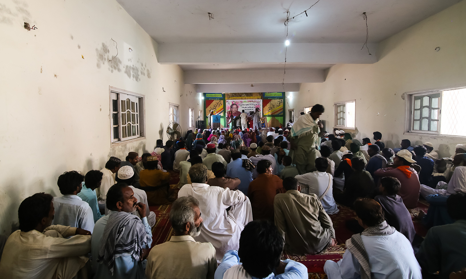 At the Sanghar Press Club where the first death anniversary of Taahira Ali Shah was organised.