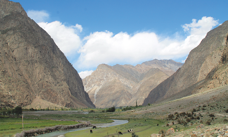 A clean and pristine valley