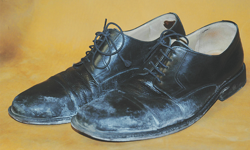 Drying Soaked Leather Shoes