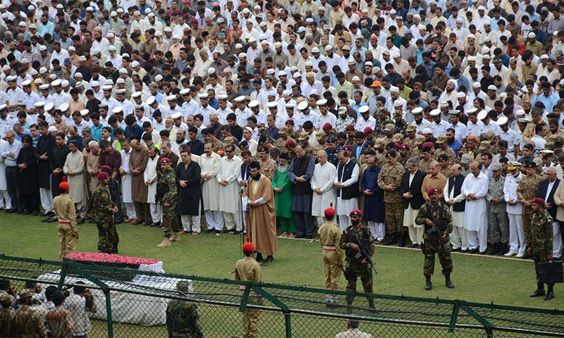 Edhi's funeral was held at Karachi's National Stadium. —Photo:PID