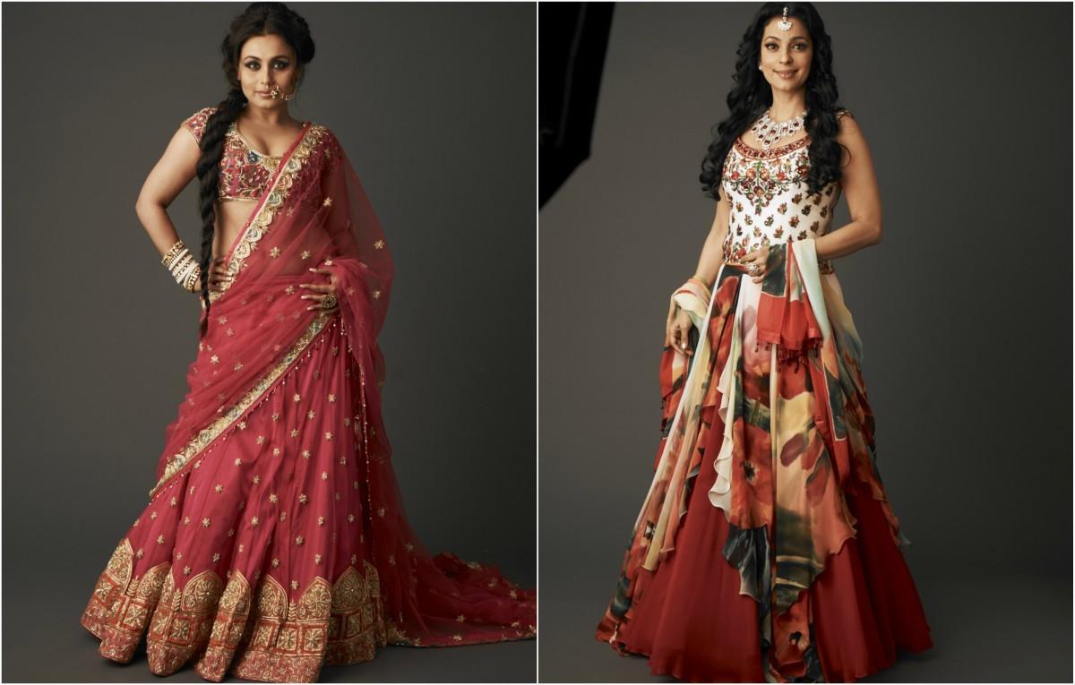 Rani Mukherjee and Juhi Chawla model Diva'ni designs