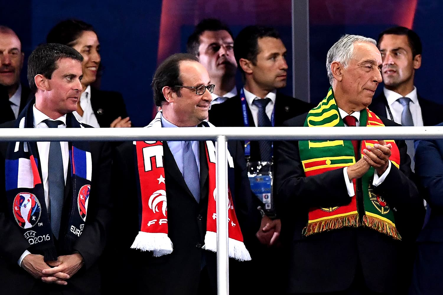 French president Francois Hollande at the venue of the Euro 2016 finale. — AFP
