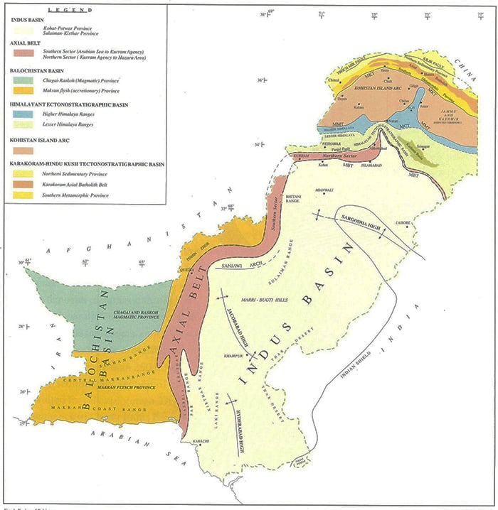 Indus Water Basin. ─ Dawn GIS
