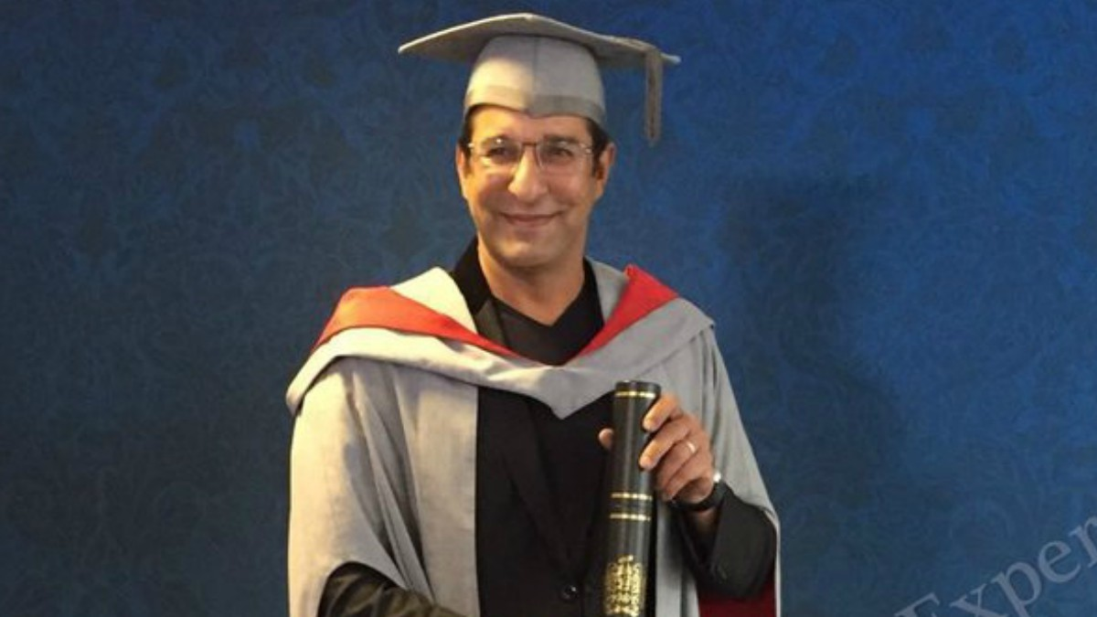 Back to school: Wasim Akram receives an honorary fellowship