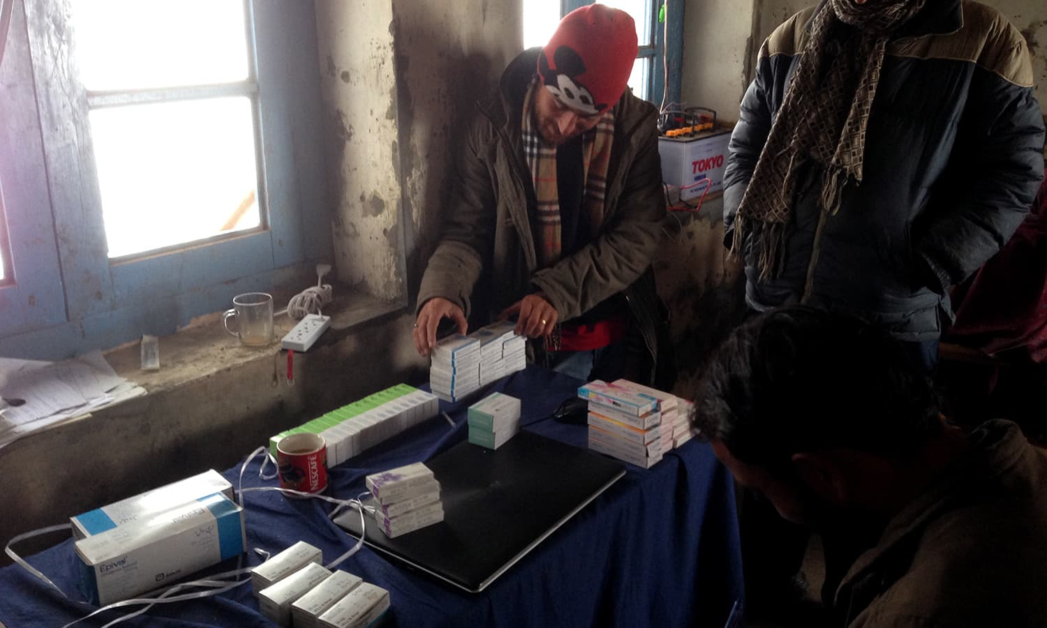 Even though basic medicines are available in the village, patients have to travel to a nearby village for more advanced medical facilities.