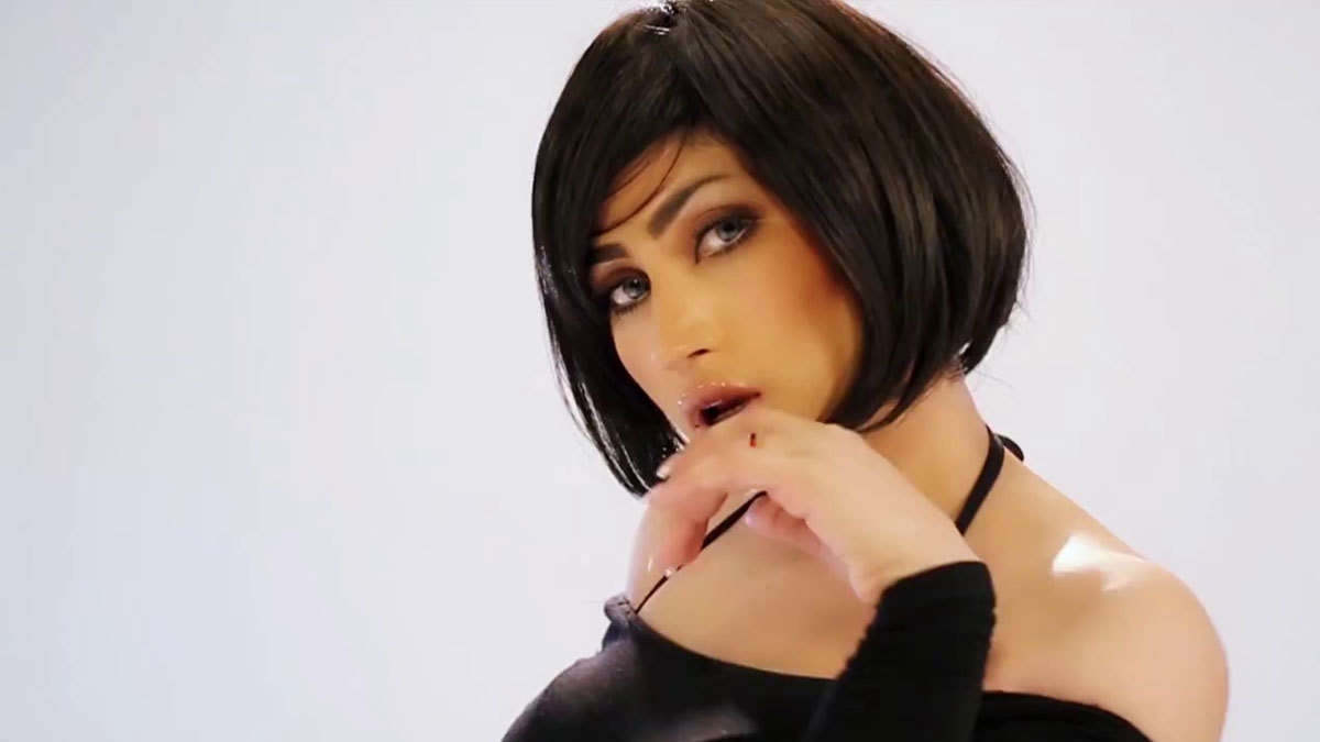 A screenshot from her music video, 'Ban.'