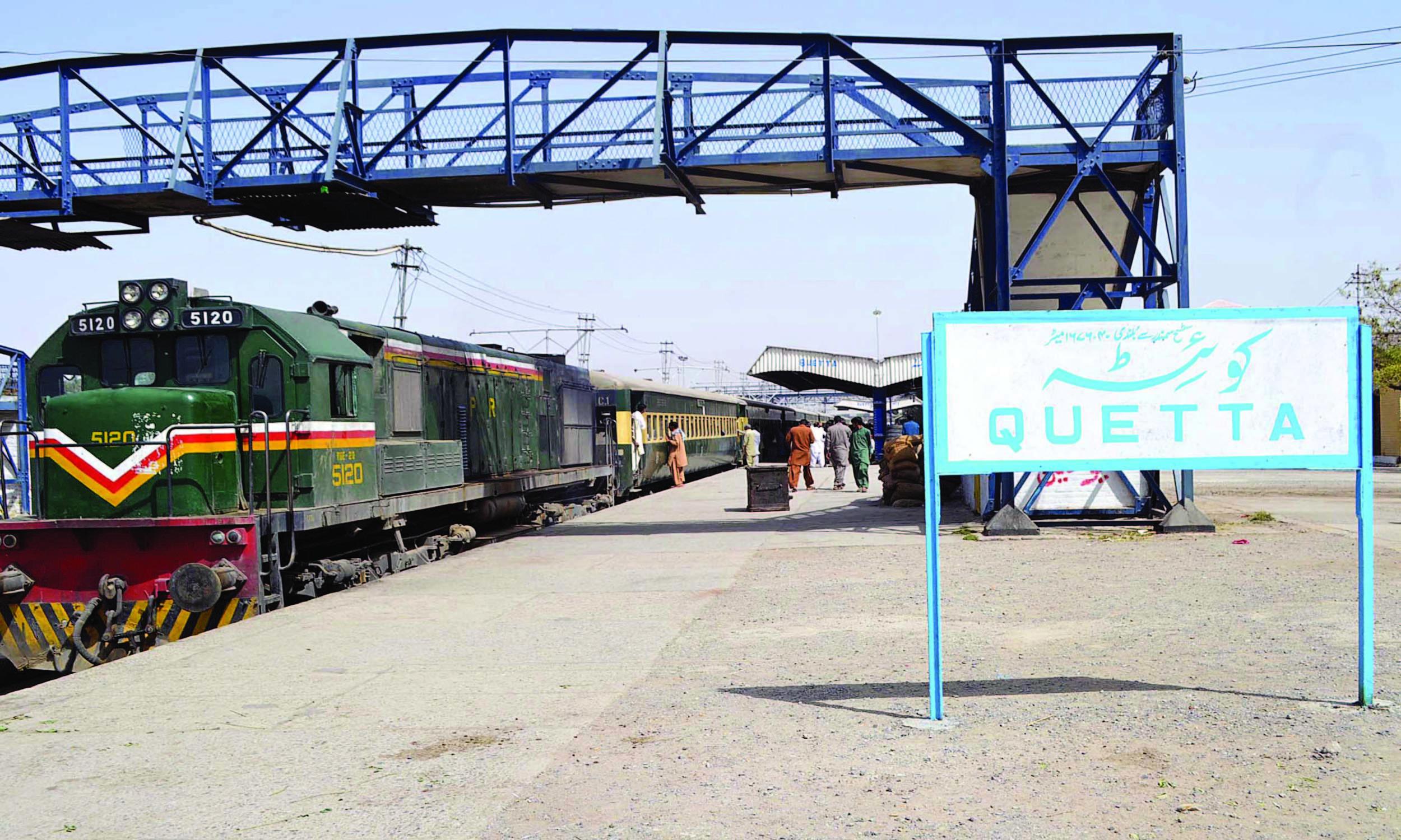 A view of a train platform in Quetta | Banaras Khan