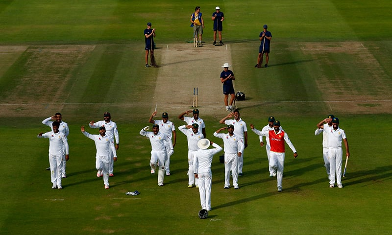 More push-ups! Pakistan thank army trainers with cheeky celebration after Lord's win