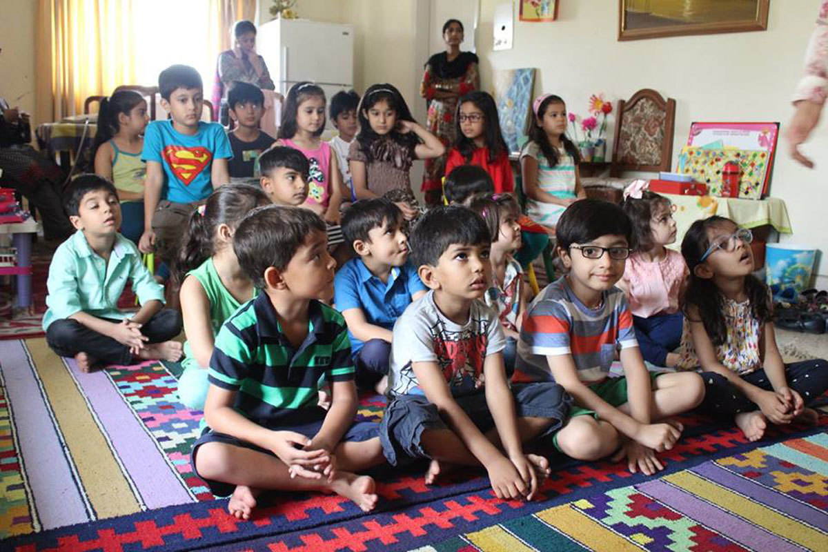 Children learning about sexual abuse at a summer camp conducted by Maham and Mehr. Photo: Facebook