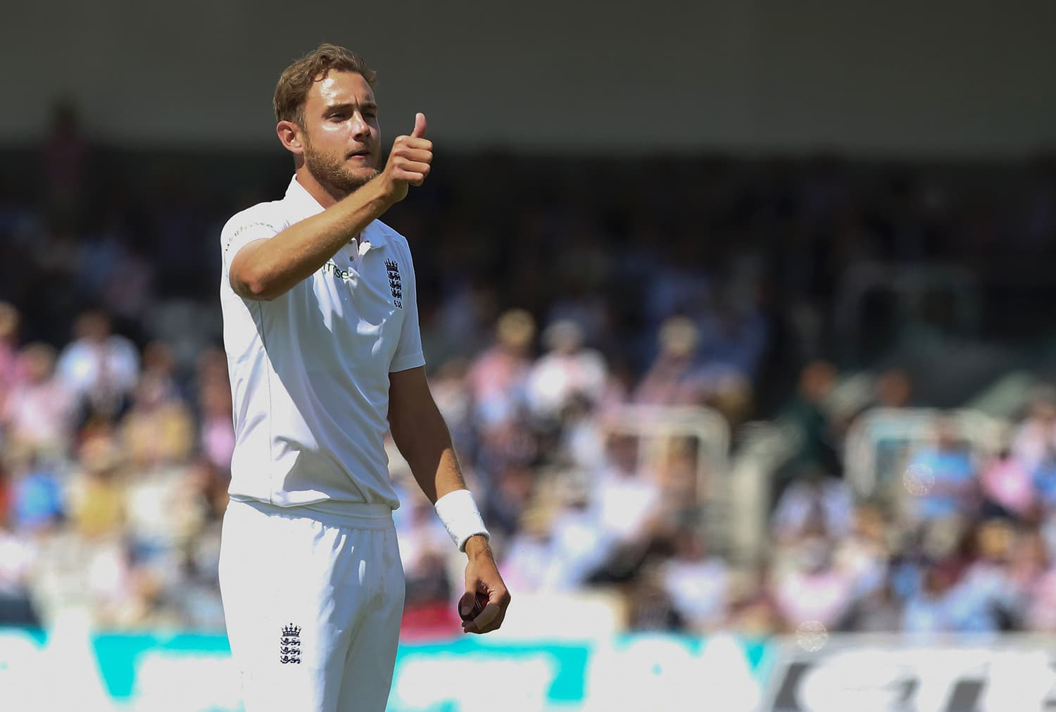 England's Stuart Broad in action. — AFP