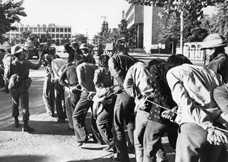 Troops round up opponents during the 1979 military coup in South Korea.