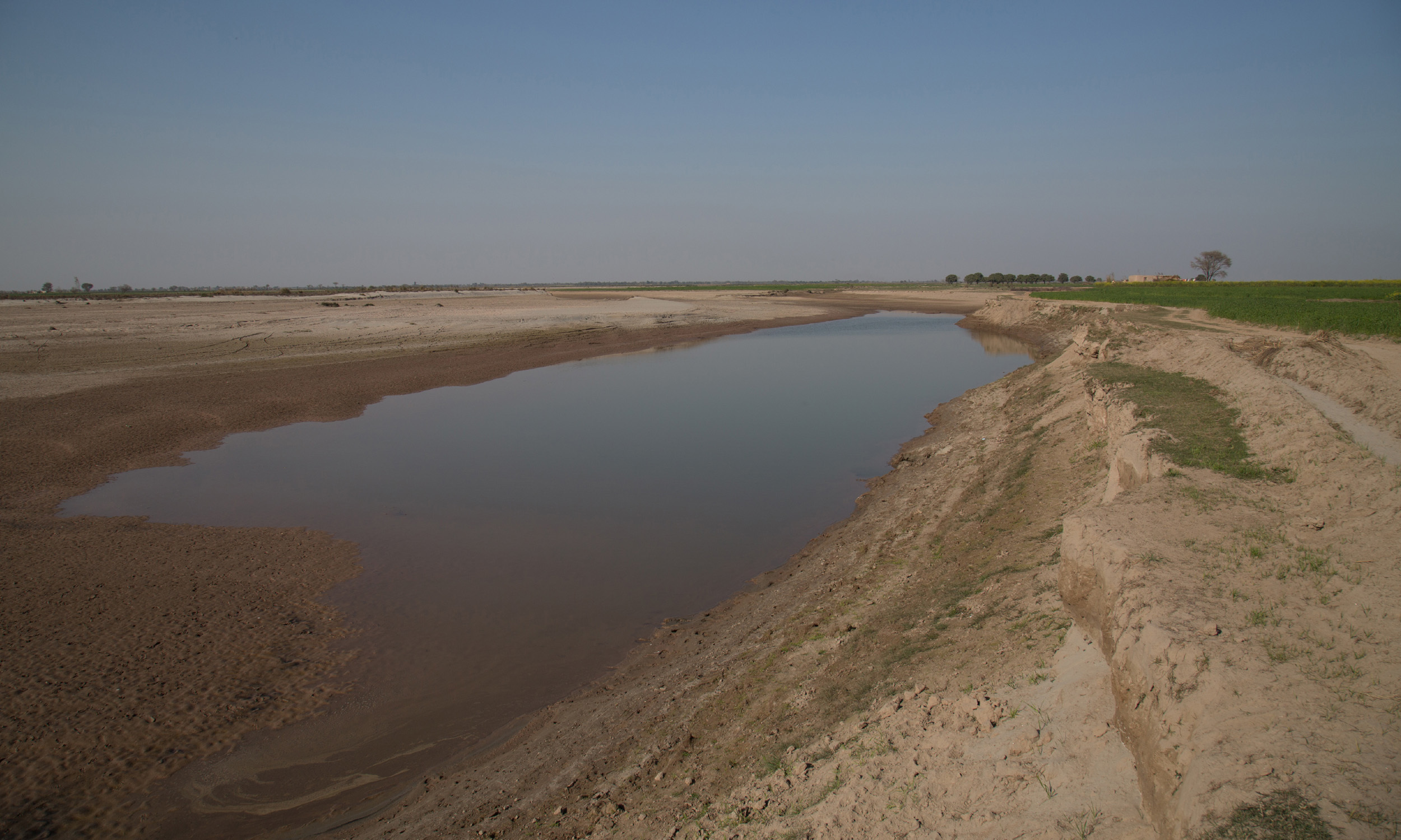 Embankment built in Badin to protect lands from the intrusion of sea water.—Photo by Danial Shah