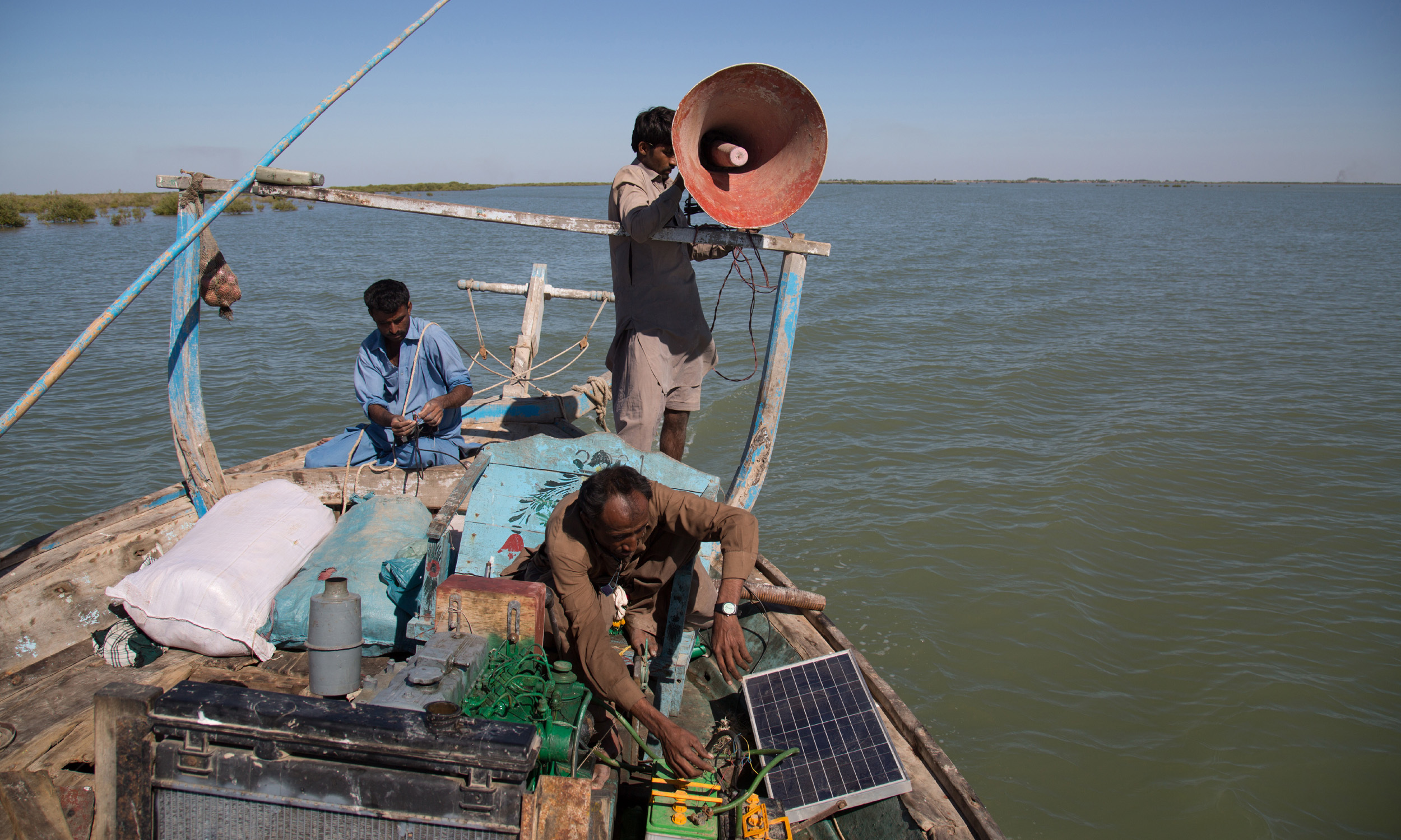 Fishermen in Thatta and Badin use solar energy as an alternative source while they go for fishing in the deep sea