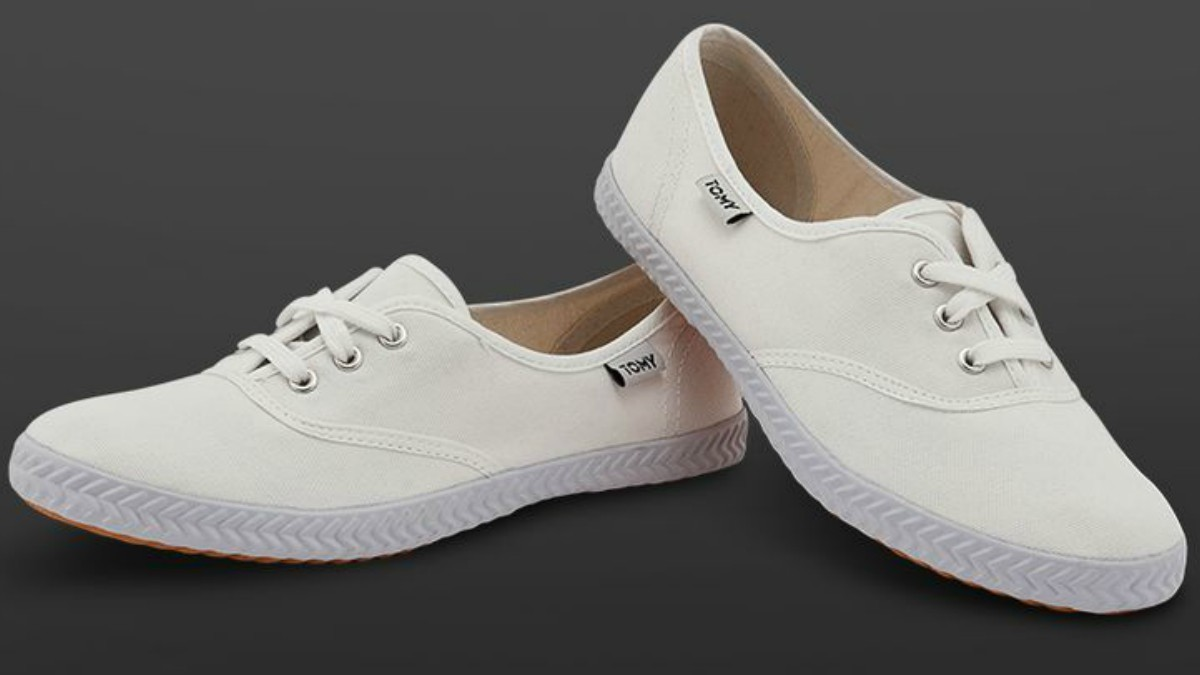 Canvas shoes like these are uber comfortable; you'll never want to take these off!