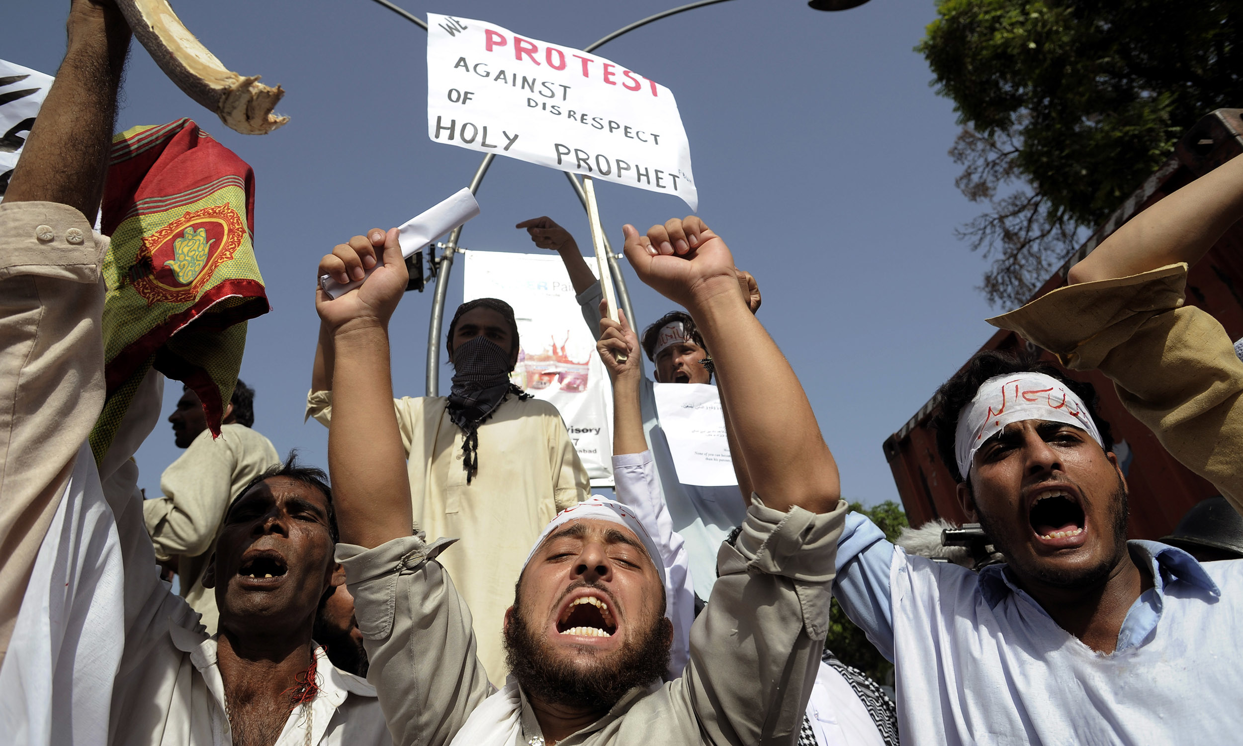 Young anti-blasphemy protesters  in Islamabad in 2012 |Tanveer Shahzad, White Star
