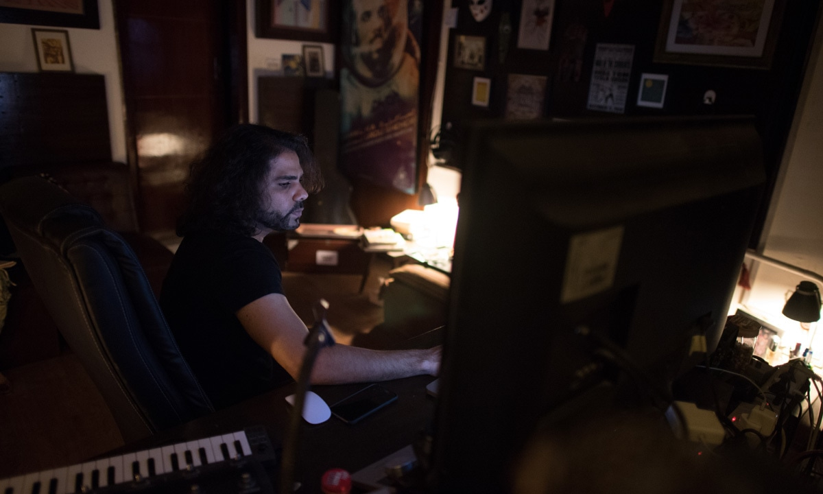 Zohaib Kazi at his home studio | Mohammad Ali, White Star