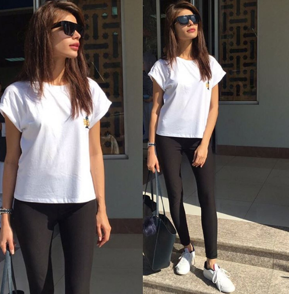 Sadaf Kanwal in white sneaks and shirt, ready to go anywhere