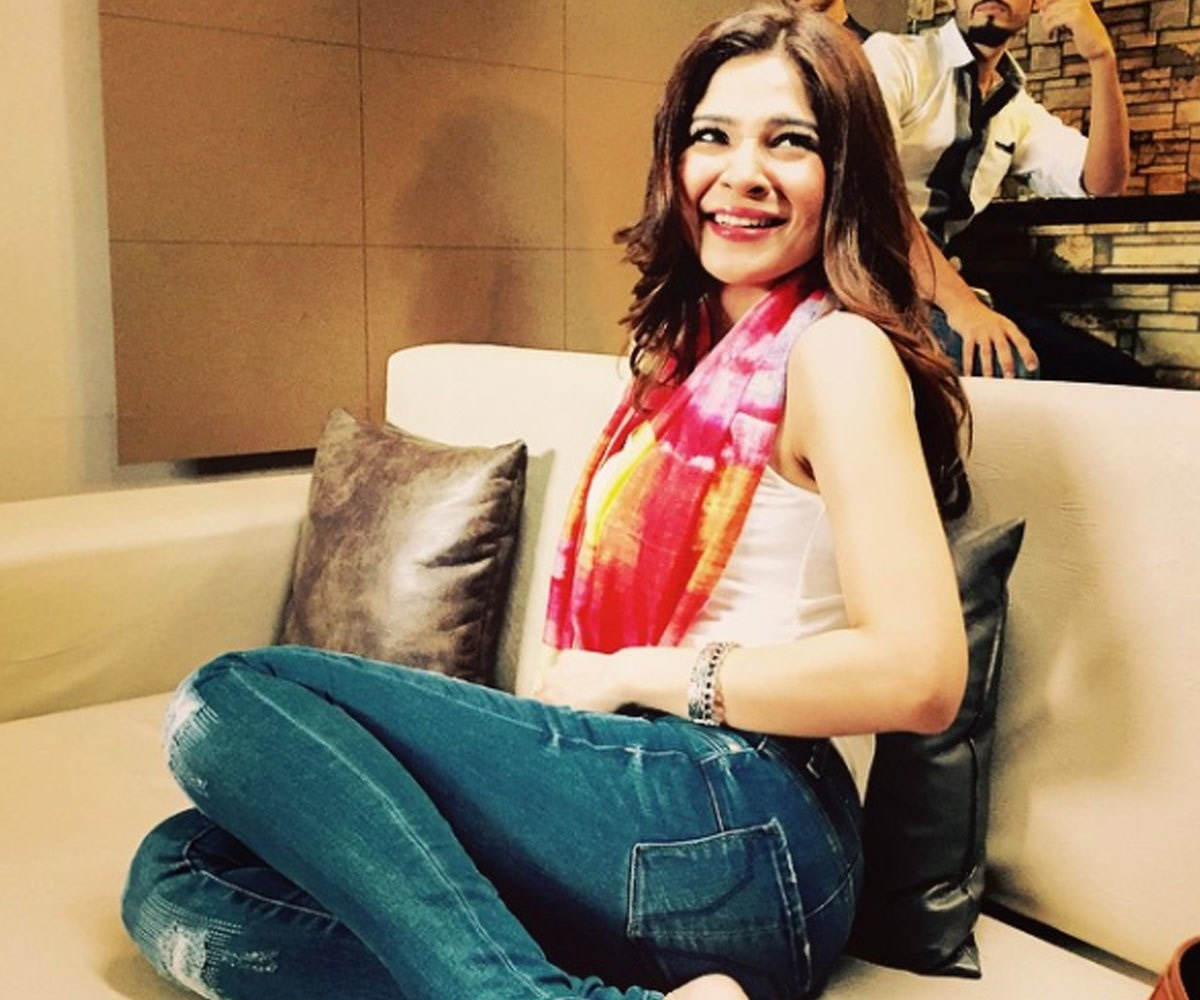 Ayesha Omar during the shoot of her film 'Karachi Se Lahore'.