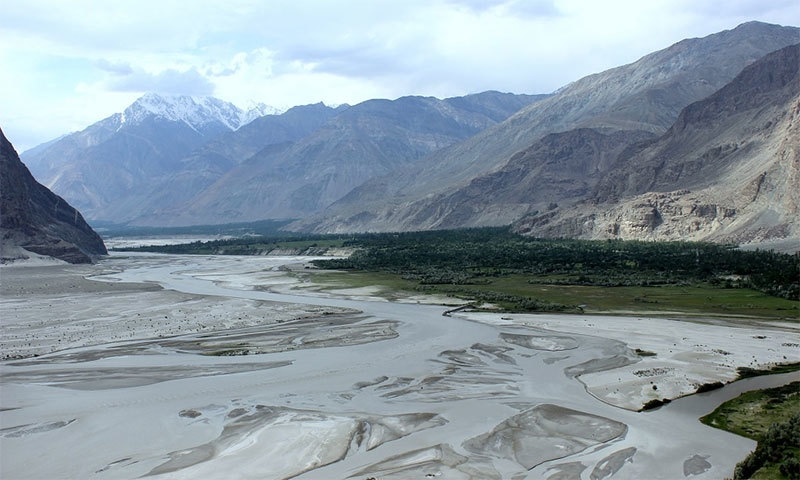 The Shigar, a tributary to the Indus, winds through Skardu.─ Photo: Zofeen T Ebrahim