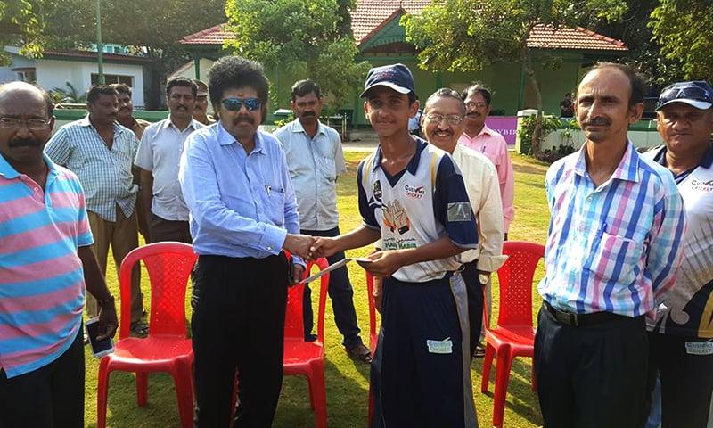Photo courtesy: Customs Cricket Academy