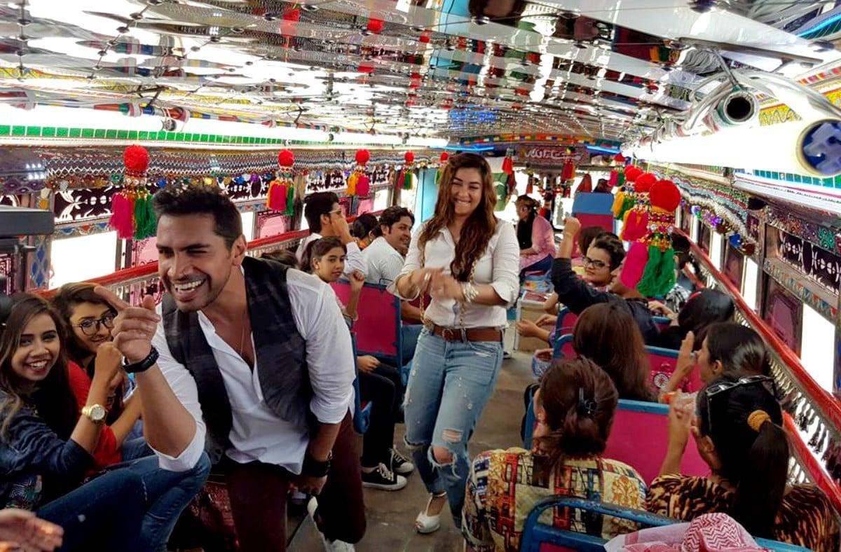 Shooting the video for 'Desan Da Raja' with Komal Rizvi