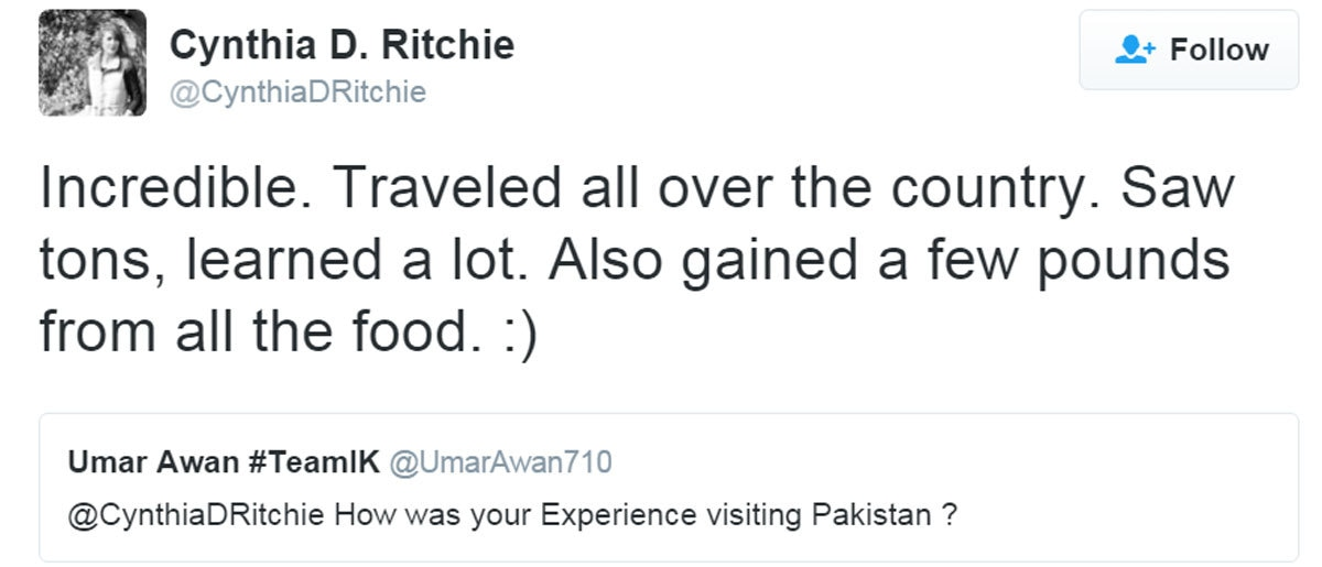 This American was quizzed about her Pakistan travels and her