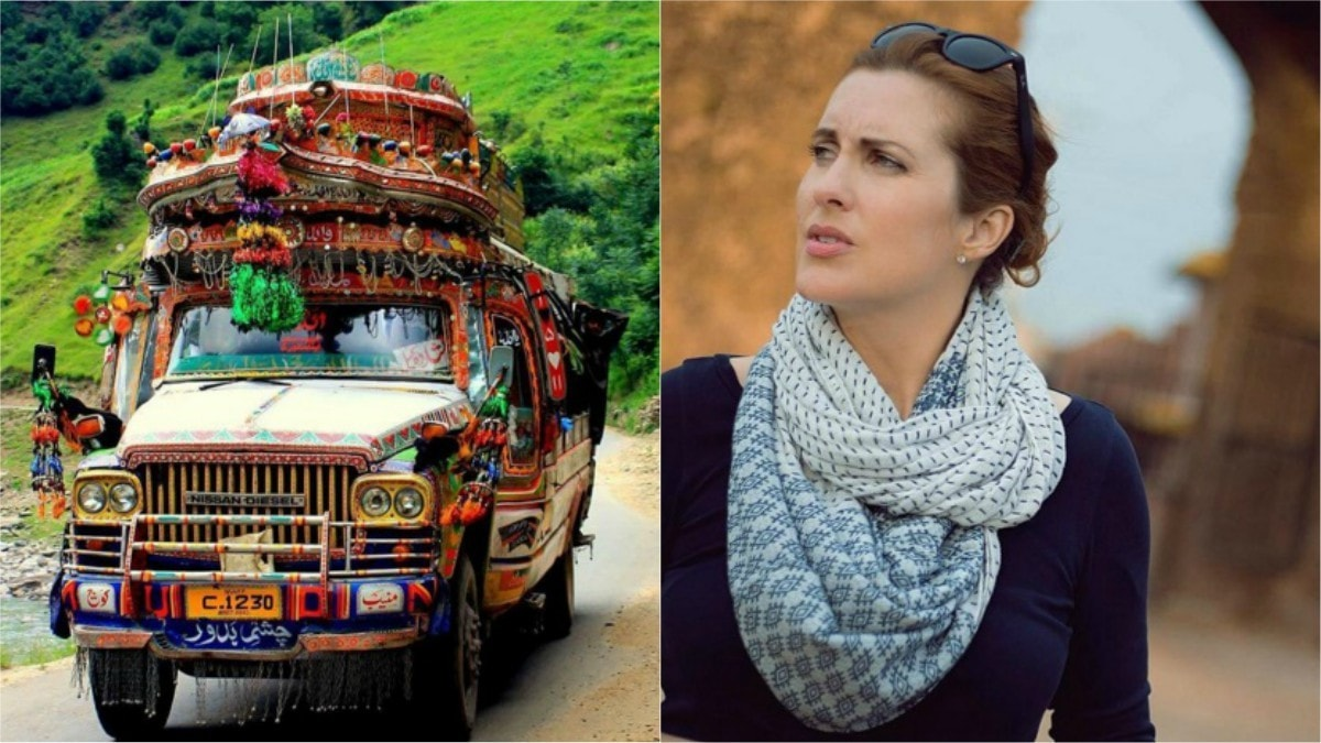 Cynthia travelled everywhere, from Kashmir (left) to Rawat Fort in Punjab (right)