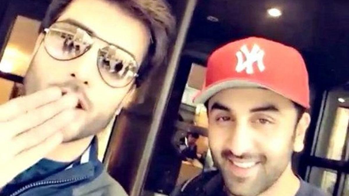 Imran Abbas and Ranbir Kapoor during the shoot of Ae Dil Hai Mushkil.