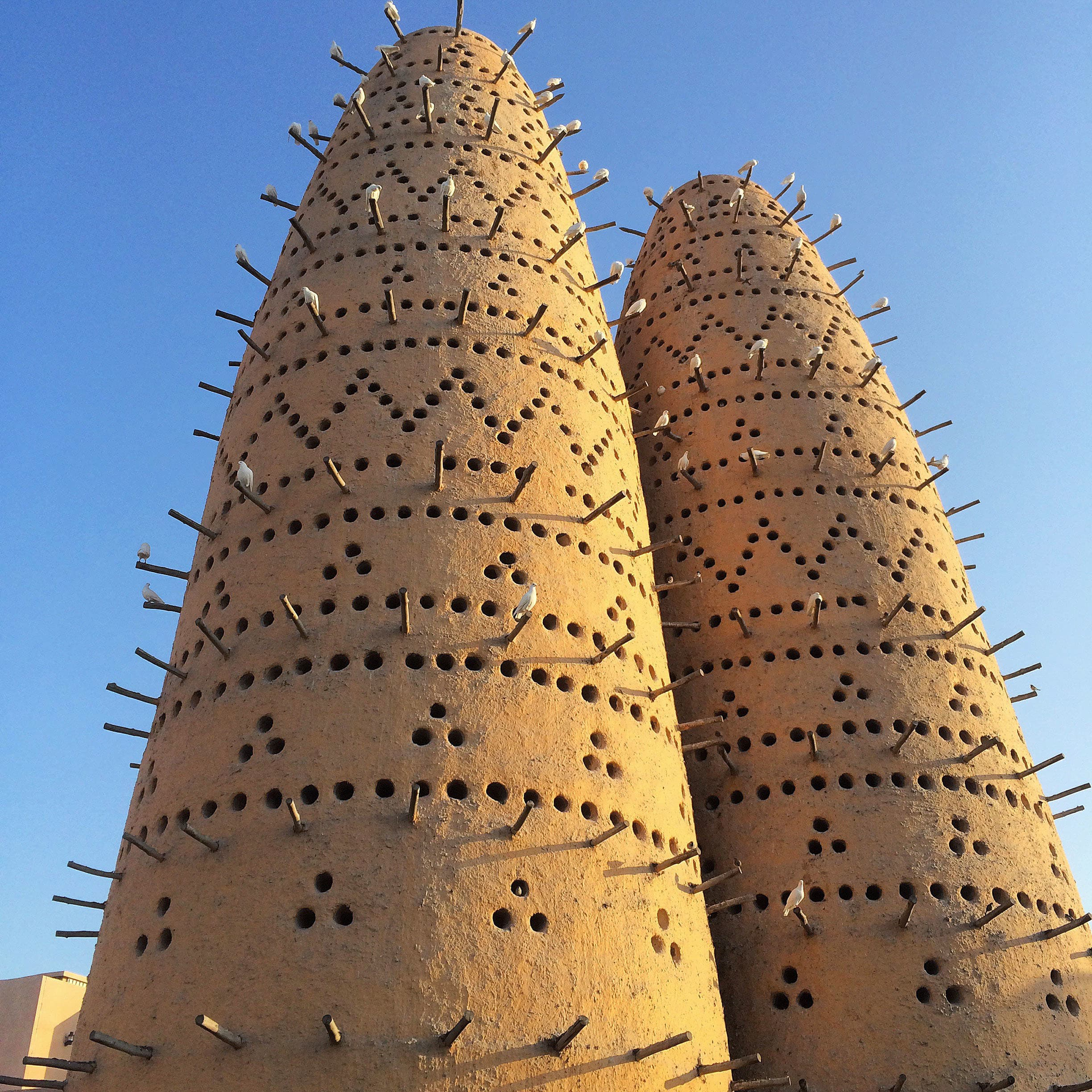 A traditional pigeon tower at Katara Cultural Village.
