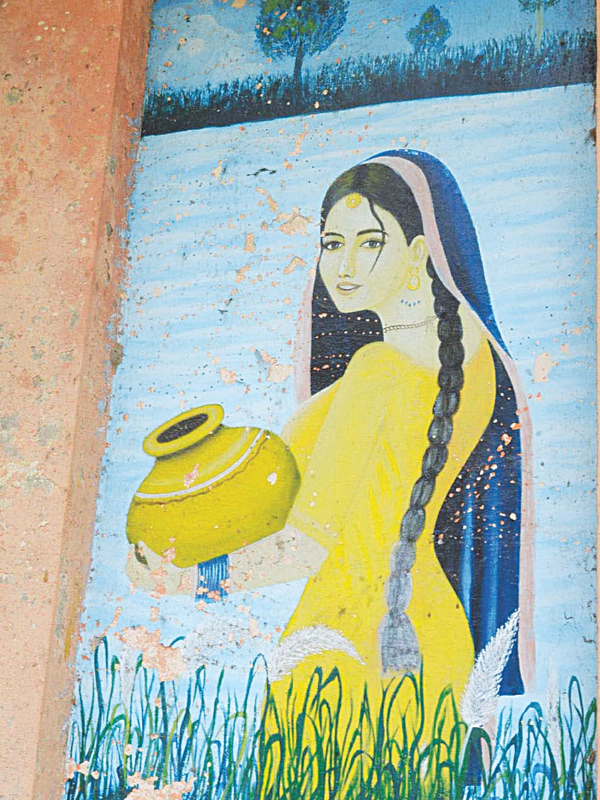 A painting from a Punjabi folk tale adorns the walls of Khoj Garh | Azhar Jafri, Wihte Star