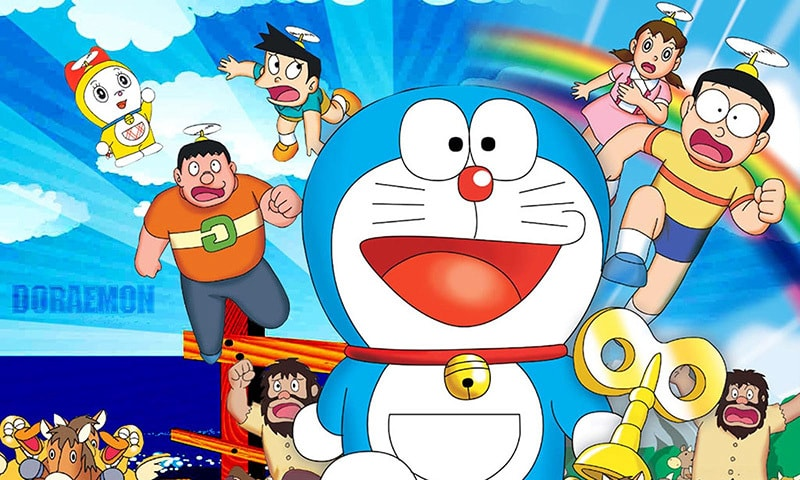 The central character of Doraemon is a robotic cat.— Youtube screengrab