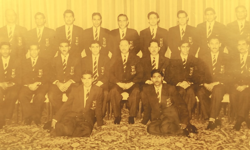 THE Pakistan hockey team for the 1960 Rome Olympics: Standing (L-R): R. Gardner, Bashir Ahmed, Khurshid Aslam, Mushtaq Ahmed, Abdul Rashid, Zakauddin, Munir Dar, Motiullah and Zafar Hayat. Middle row (L-R): Anwar Ahmed Khan, Naseer Bunda, Chaudhry Ghulam Rasool, Abdul Hamid (Captain), A.I.S. Dara, Niaz Khan, Habib Ali Kiddi, M.H. Atif and Zafar Ali Zafri. First row (L-R): Noor Alam and Abdul Waheed Khan.