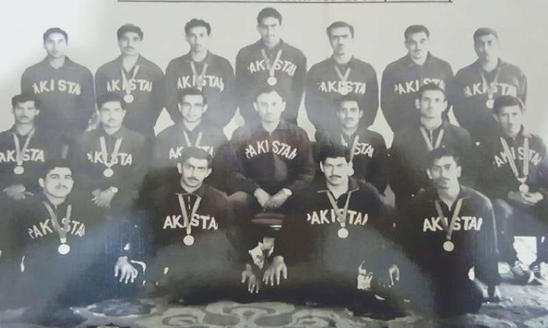 THE Pakistan hockey team for the 1968 Mexico Olympics: Standing (L-R): Laeeq Ahmed, Anwar Shah, Gulraiz Akhtar, Riazuddin, Farooq Khan, Jahangir Butt and Ghazi Salahuddin. Middle row (L-R) Saeed Anwar, Khalid Mahmood, Tariq Aziz (Captain), Brig S. M. H. Atif, Asad Malik, Tariq Niazi and Fazal-ur-Rehman. First row (L-R): Ashfaq Ahmed, Abdul Rasheed Jr, Tanveer Dar and Riazuddin.
