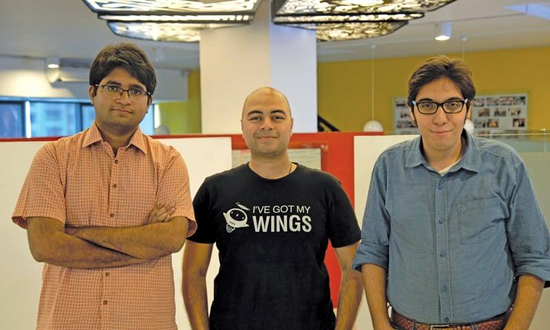 (L to R): Muhammad Usman, Muhammad Waqas, Ahmed Bukhari, Founders, WonderTree.