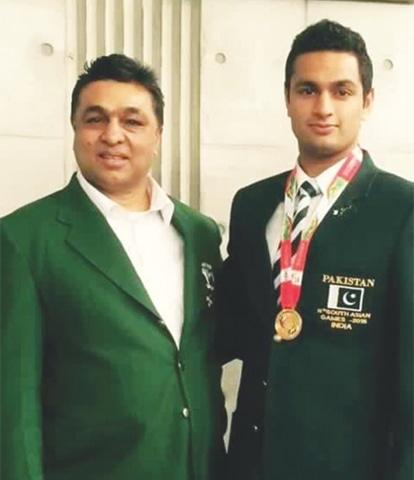 Judoka Shah Hussain with father boxer Hussain Shah