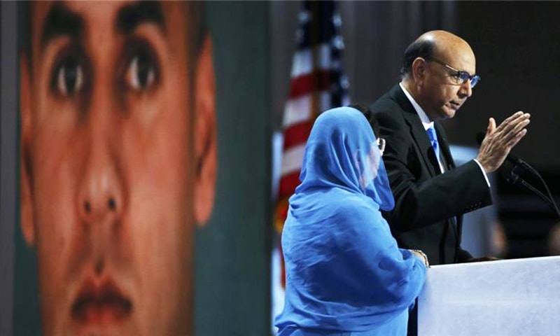 Captain Khan's parents Khizr and Ghazala Khan have shown tremendous courage and grace in standing up to America's national bully. — Reuters