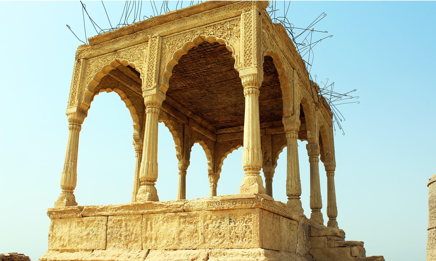 تخت گاہ، قلعہ کوٹ ڈجی — تصویر اختر حفیظ