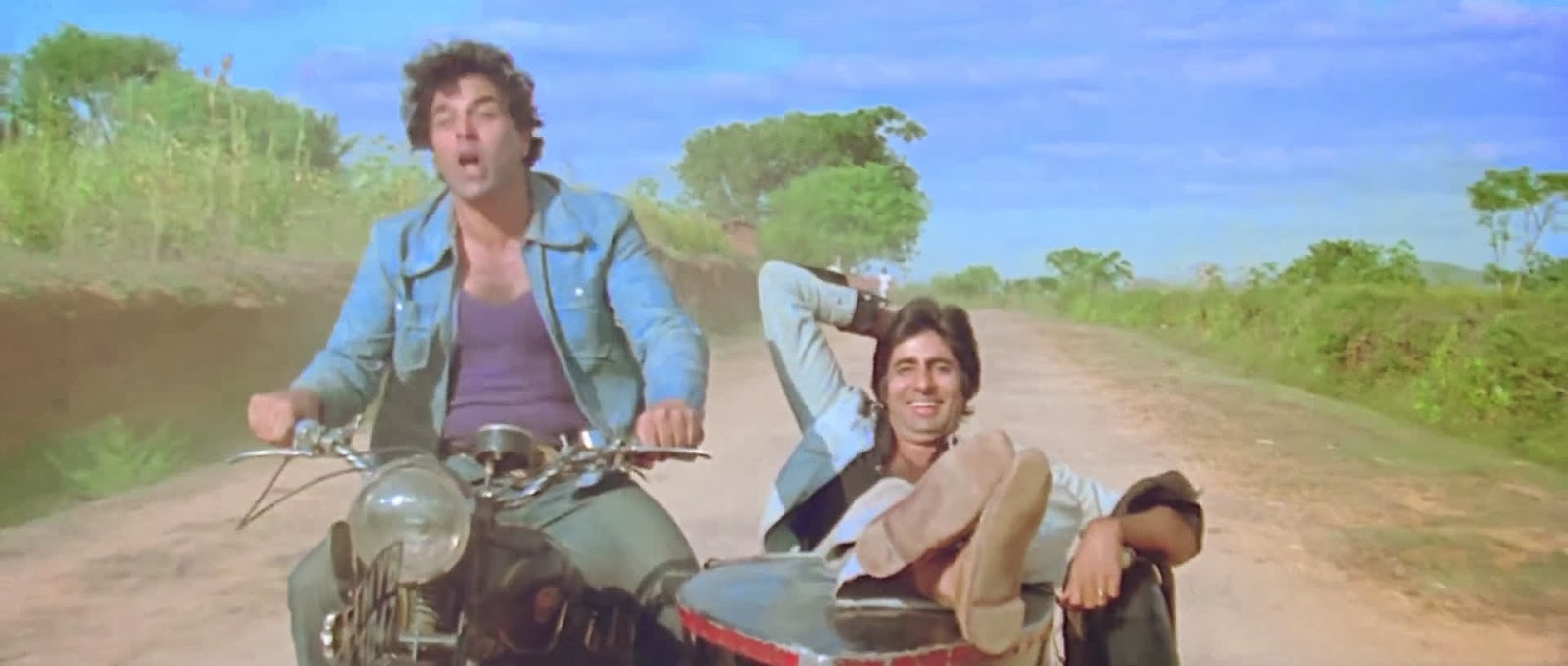 Perhaps the most enduring buddy flick was Sholay (1975), starring Amitabh Bachchan and Dharmendra