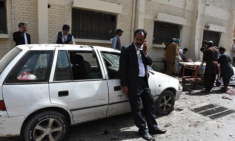 دھماکے میں زیادہ تر وکلاء ہلاک ہوئے—۔فوٹو/ اے ایف پی