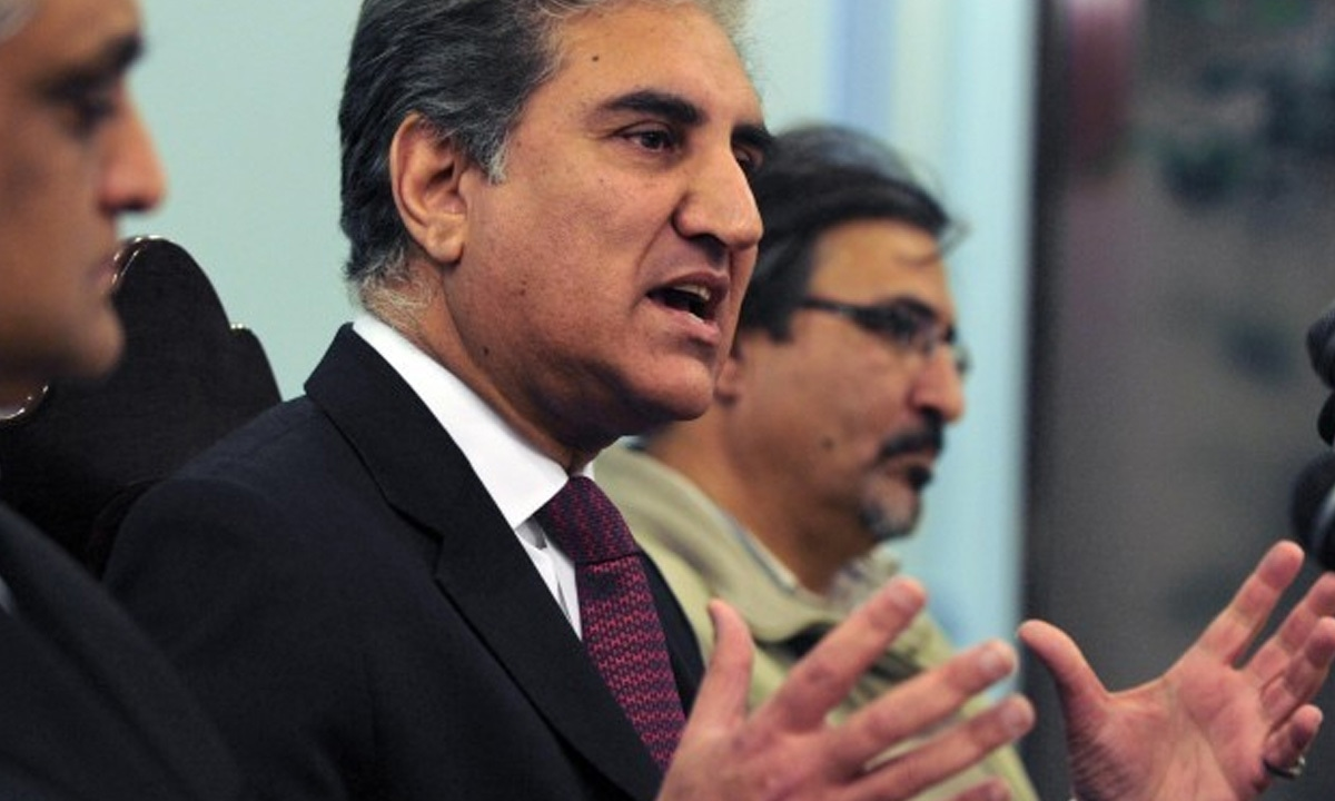 Shah Mehmood Qureshi, the then former foreign minister, speaks about the Raymond Davis issue during a news conference in Islamabad in February 2011 | AFP