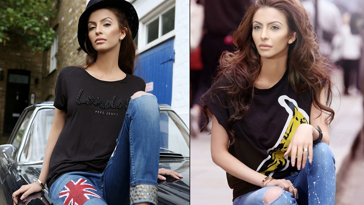 Faryal Makhdoon broke a number of hearts with her sultry look in the latest Pepe Jeans ads.