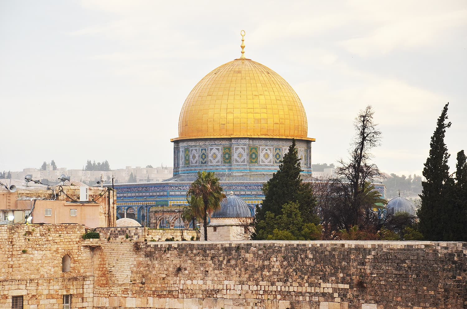 The Dome of the Rock from a distance.