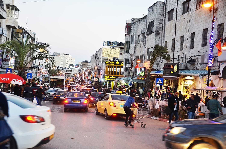 Downtown Ramallah.