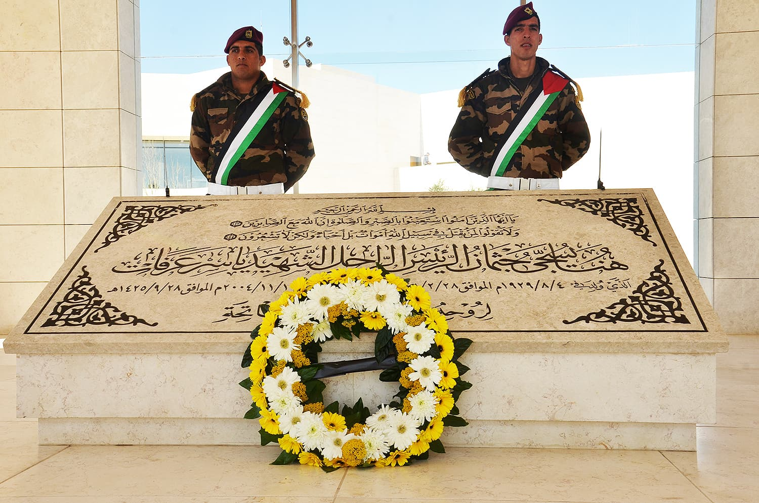The mausoleum of Yasser Arafat in Ramallah.
